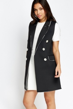 Scuba Sleeveless Long Jacket