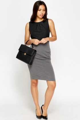Two Tone Pencil Dress
