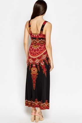 Ornate Printed Maxi Dress