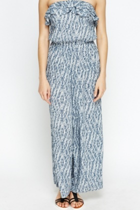 Ruffled Bandeau Jumpsuit