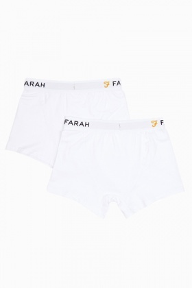 White Mens 2 Pack Boxer Shorts
