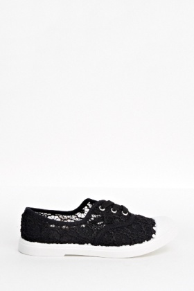 Mesh Design Flat Trainers
