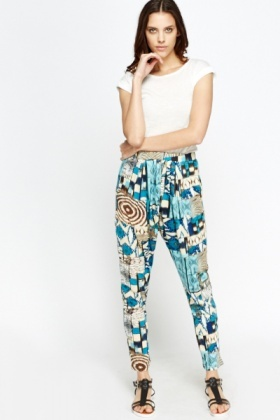 Mix Print Leisure Trousers