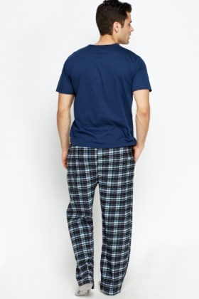 Multi Checked Pyjama Bottoms