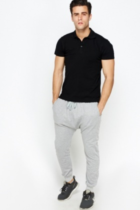 Low Cut Mens Jogger Pants