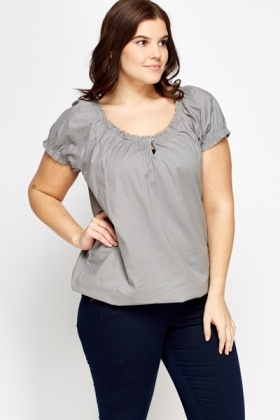 Ruffled Elasticated Top
