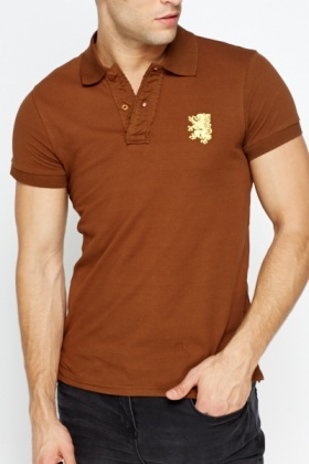 Slim Fit Button Front Polo