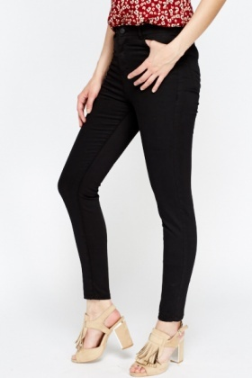Black High Waisted Skinny Jeans