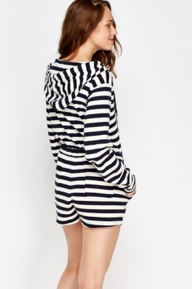 Striped Boyfriend Jogger Playsuit