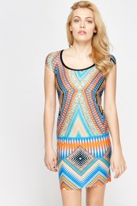 Geo Beige Multi Dress