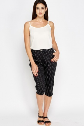 Polka Dot Cropped Trousers