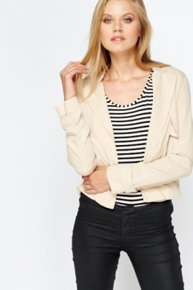 Sand Open Blazer Jacket