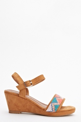 Aztec Wedge Sandals