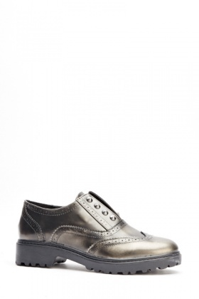 Metallic Studded Brogues
