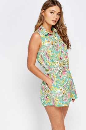 Multi Button Front Playsuit