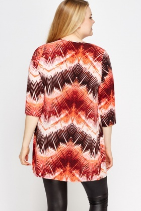 Red Multi Contrast Tunic