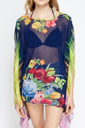 Mix Print Multi Beach Cover Up