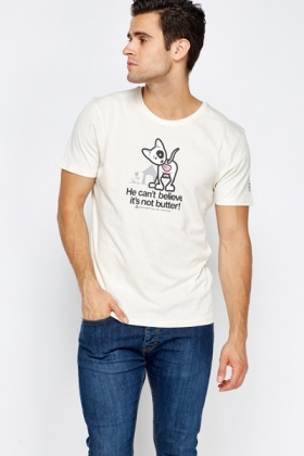 Printed Dog Logo T-Shirt