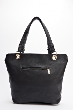 Zip Detailed Front Handbag