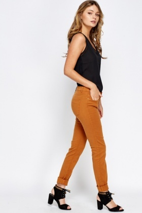 Slim Leg Cotton Jeans