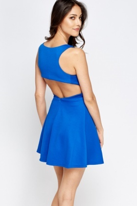 Cut Out Panel Skater Dress