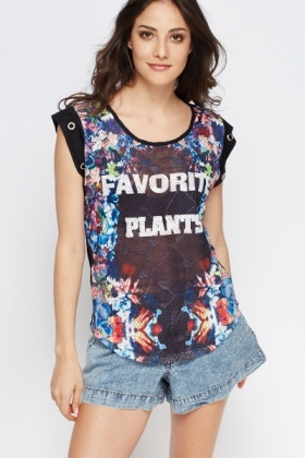 Favourite Plant Print Cover Up