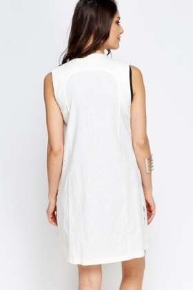 Sleeveless Off White Jacket