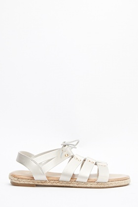 Faux Leather Strappy Sandals