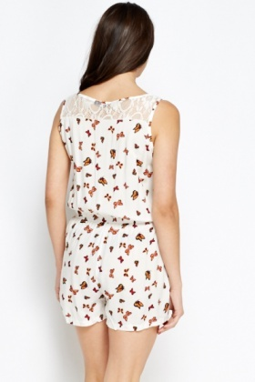 Butterfly Print Playsuit