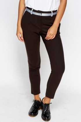 Contrast Dark Brown Trousers