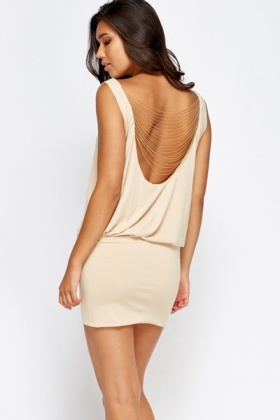 Drop Chain Back Mini Dress
