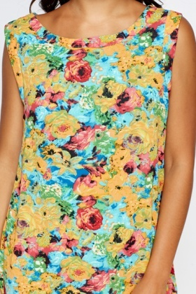 Floral A-Line Shift Dress
