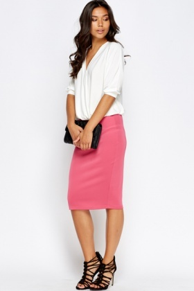 Midi Bodycon Pencil Skirt