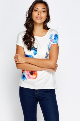 Silky Printed Front Top