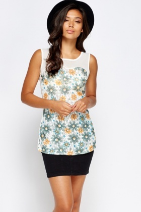 Sweetheart Mesh Floral Top