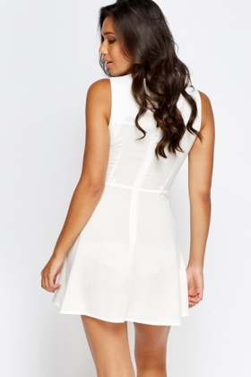 White Mini Swing Dress - Just £5