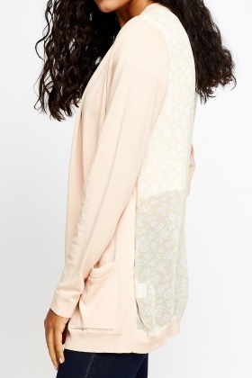Floral Sheer Back Cardigan