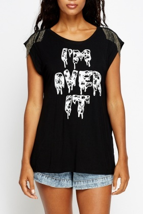 Im Over It Print Top