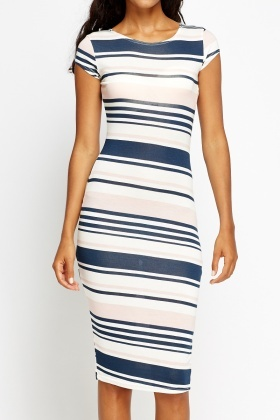 Multi Striped Bodycon Dress