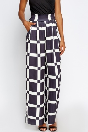 Wrap Contrast Wide Leg Jumpsuit