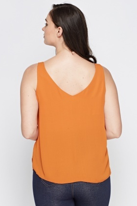 Dark Orange Cami Top
