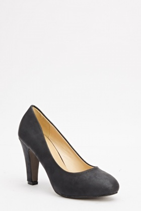 Faux Leather Classic Heel Pumps