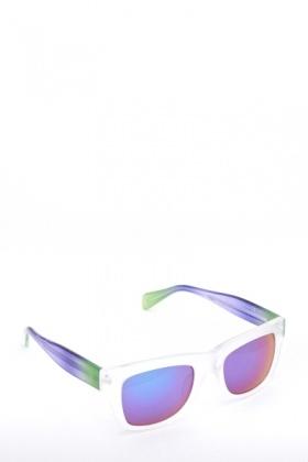 Clear Mirrored Wayfarer Sunglasses
