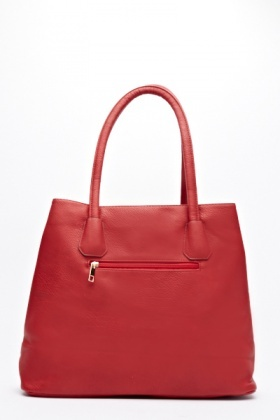 Red Bow Faux Leather Hand Bag