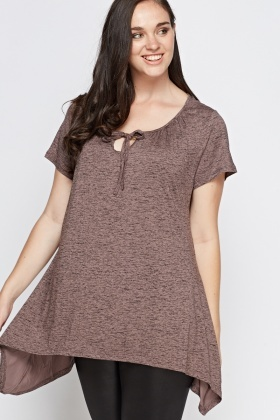 Asymmetric Speckled Tunic