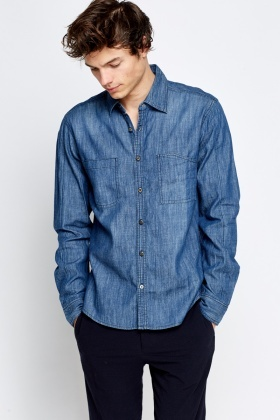Denim Wash Out Shirt