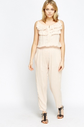Frilled Front Jumpsuit