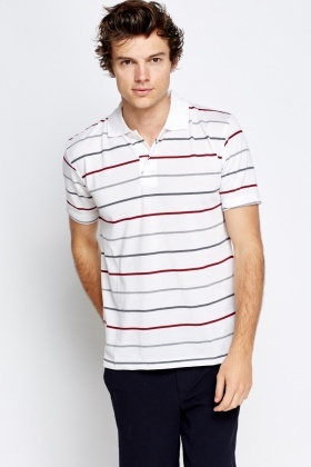 Multi Striped Polo T-Shirt