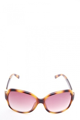 Amber Retro Square Sunglasses