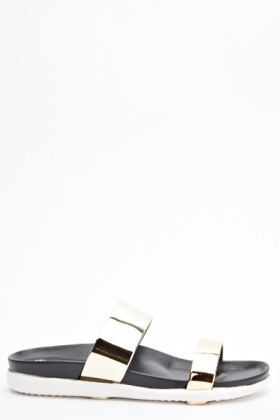 Contrast Slip On Sandals